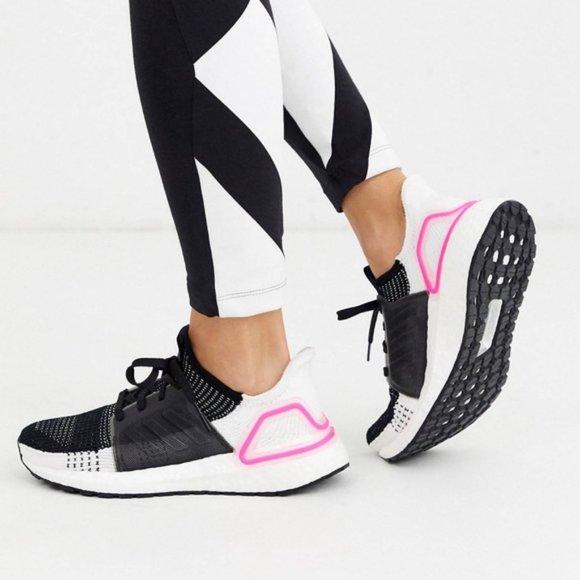 Desplazamiento regla dieta  adidas Shoes | Ultraboost 19 Black White Pink | Poshmark